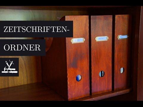 DIY Zeitschriftensammler / Magazine File Folder Organizer