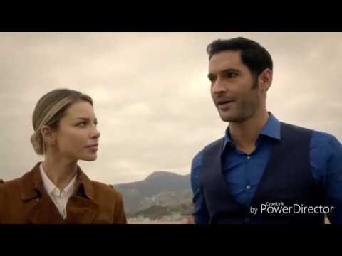 Beso Lucifer y Chloe en  español