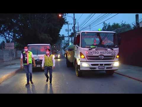 Calles desinfectadas por la salud de los que están adentro