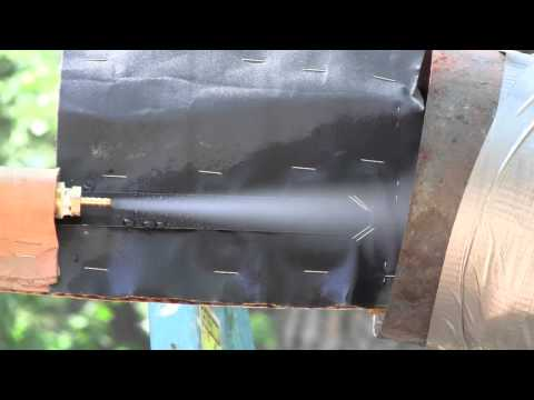 Supersonic Steam Nozzle Test Oblique Shock Mach Disk30kW.wmv