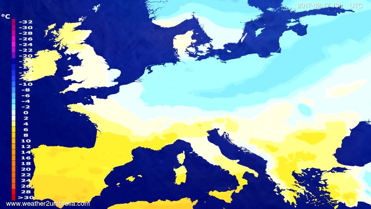 Temperature forecast Europe 2017-02-14