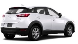 """desain yang diusung Mazda CX-3 ini menggunakan konsep KODO-Soul of Motion. DOHC yang berkapasitas 2.000 cc dengan bekalan teknologi Sky Active-G. dari sisi depan tampak terpasang sepasang lampu utama Mazda CX-3 yang sudah mengusung teknologi LED with daytime running lamp and automatic levelling Automatic On/Off function.Spesifikasi Mazda CX-3Tipe Sport TouringMesinTipe Mesin SKYACTIV®18-G 2.0L DOHC 16-valve 4-cylinder with VVTTenaga Maksimal 146 hp @ 6,000 rpmTorsi Maksimal 146 lb-ft @ 2,800 rpmKapasitas 1998 ccDiameter x Langkah 83.5 x 91.2 mmFuel Sistem Advanced Direct InjectionValvetrain Chain-driven dual overhead cams, 4 valves per cylinder with variable intake valve timing (VVT)Rasio Kompresi 13 : 1DimensiPanjang 4274 mmLebar 1767 mmTinggi 1541 mmJarak Sumbu Roda 2570 mmJarak terendah 154 mmKapasitas Tangki 48 LKaki-kakiUkuran Ban P215/60 R16 all-season tires P215/50 R18 all-season tiresVelg 16-inch aluminum-alloy wheels 18-inch aluminum alloy wheelsFiturKenyamanan • Air conditioning with pollen filter• Power windows with driver's one-touch down/up feature• Power door locks with 2-stage unlocking• Push button start• Cruise control with steering wheel mounted controls• Front and rear overhead lights• Rear heater ducts• Rear window defogger with timer• Manual day/night rearview mirror• Remote fuel door releas• Remote keyless illuminated entry system with """"answer back"""" feature• Tilt and telescopic steering column• Dual covered visor vanity mirrors• 12-volt power outlet • Air conditioning with pollen filter• Power windows with driver's one-touch down/up feature• Power door locks with 2-stage unlocking• Push button start• Cruise control with steering wheel mounted controls• Front and rear overhead lights• Overhead console with sunglass holder• Rear seat headrests• Rear heater ducts• Rear window defogger with timer• Remote fuel door release• Manual day/night rearview mirror• Mazda Advanced Keyless Entry System• Tilt and telescopic steering column• Remote rear hatch r"""
