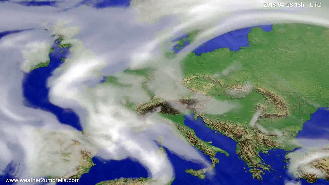 Cloud forecast Europe 2018-04-05