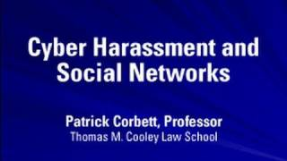 Cyber Harassment and Social Networks | Cyber Bullying and Other High Tech Crimes