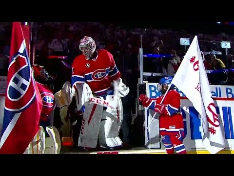 Video: Price encourages young goalie in pregame