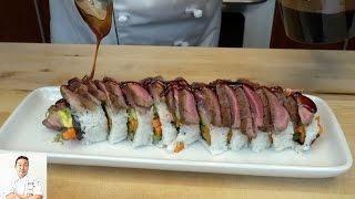 Video Steak Lovers Sushi Roll - How To Make Sushi Series MP3, 3GP, MP4, WEBM, AVI, FLV September 2018