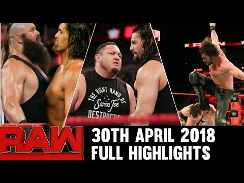 WWE Monday Night Raw 30th April 2018 Highlights Hindi Preview ! Roman reigns vs Brock lesnar Rematch