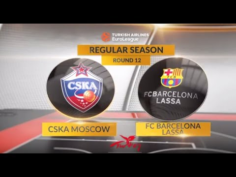 EuroLeague Highlights RS Round 12: CSKA Moscow 92-76 FC Barcelona Lassa