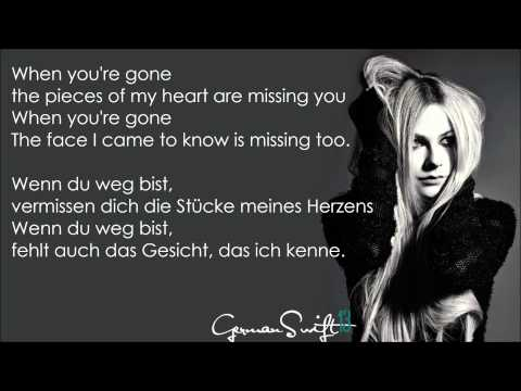 Avril Lavigne - When You're Gone - (Lyrics + Deutsche Übersetzung)