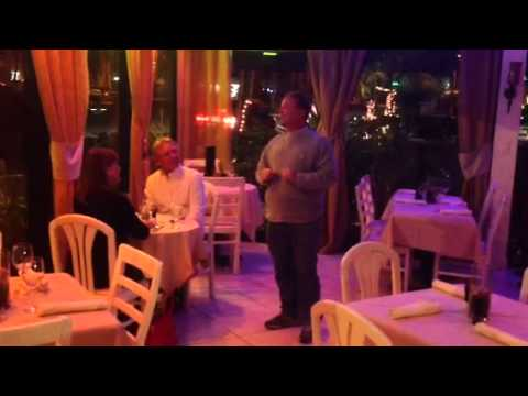 Robert singing for his dinner at Fine in Singer Island