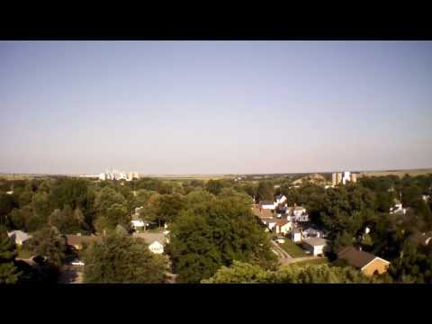 Flying an AR Drone 2.0 over Roanoke, Illinois