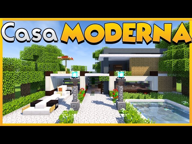 Come costruire una casa moderna su minecraft for Casa moderna su minecraft