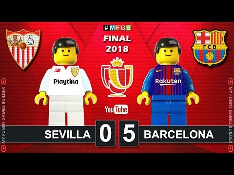 Copa del Rey Final 2018 • Sevilla vs Barcelona 0-5 • Goal Highlights in Lego Football Stop Motion