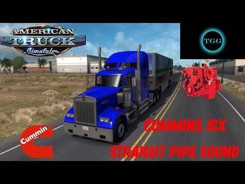 Cummins ISX Straight Pipe Sound v1.0 1.37.x
