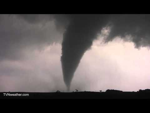 Incredible elephant trunk tornado near Hartington, NE – June 17, 2014