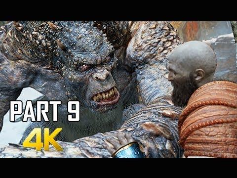 GOD OF WAR Gameplay Walkthrough Part 9 - Mountain Troll (PS4 PRO 4K Commentary 2018) (видео)