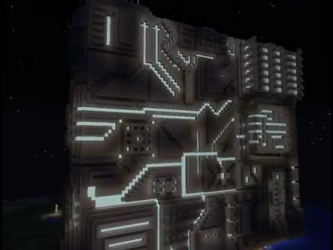 Projection Mapping Cubes Sci-fi Cube Spaceship And Map