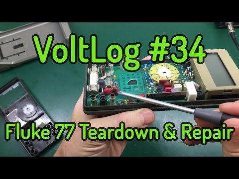 Voltlog #34 - Fluke 77 Teardown & Repair, Varistor Replacement
