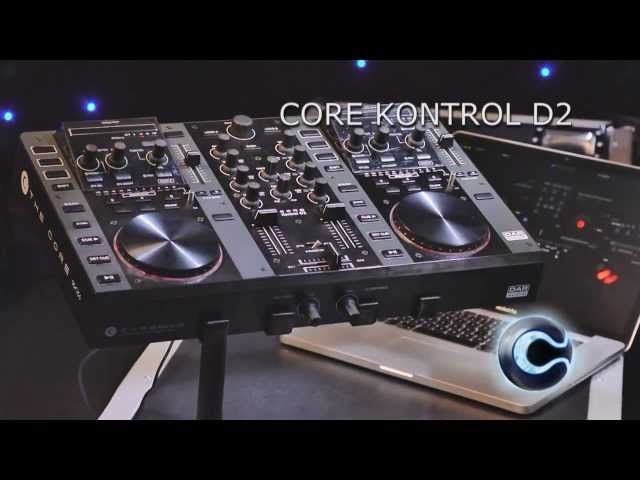 CORE Kontrol D2  2 Deck Midi controller with audio interface    ordercode: D1261