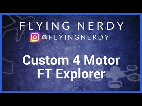 Scratch Built RC Airplane: 4 motor design, Flitetest Explorer