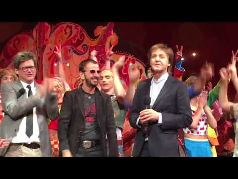 """The Beatles Paul and Ringo Surprise everyone at Cirque 10th anniversary 'Love"""" show 2016 Awesome!"""