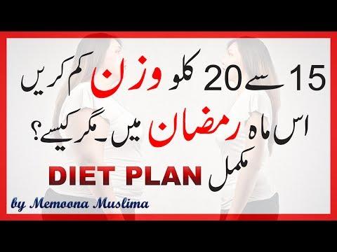 Ramadan Weight Loss Diet Plan & Tips 2017 Urdu Hindi ...