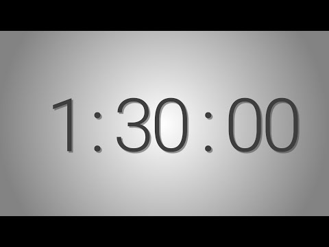 90 Minutes (1 hr. 30 min.) countdown Timer - Beep at the end | Simple Timer (ninety min)
