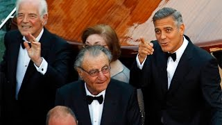 George Clooney Leads A Star Studded Parade Of Boats To Venice Wedding