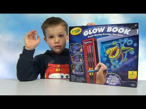 Макс рисует мультики Crayola Glow Book набор  для творчества онлайн видео