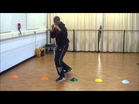 In and Out Boxing Footwork Drill