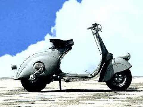 Historical Birth of a Vespa