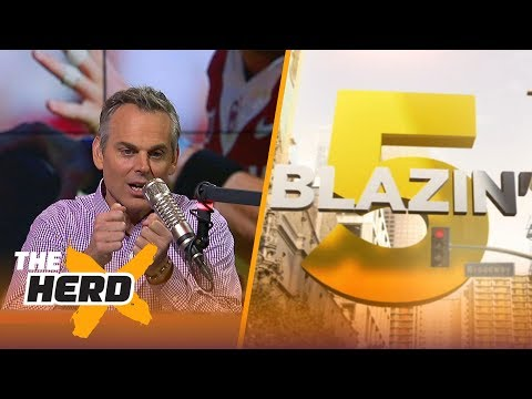 Blazin' 5: Colin's picks for 2017-18 NFL Week 9 | THE HERD