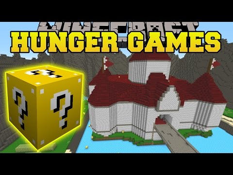 Minecraft: PRINCESS PEACH CASTLE HUNGER GAMES - Lucky Block Mod - Modded Mini-Game