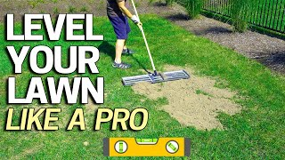 Video How to Level Your Lawn Like a Pro - Tool for Sand Soil Or Peat Top Dressing MP3, 3GP, MP4, WEBM, AVI, FLV Februari 2019