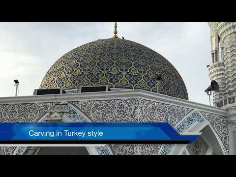Architect in Turkey style carving of Interior and exterior structure of Masjid e Ali.
