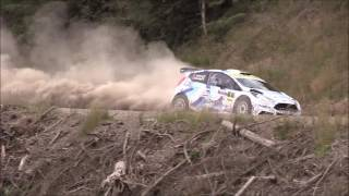 Overnight leaders of the Nicky Grist stages 2017, the fifth round of the British Rally Championship (BRC).  Osian Pryce and Dale Furniss set a blistering pace out front as the rest of the crews battled with thick dust hanging throughout the stages.  The event moves onto the tarmac roads of Epynt for day 2.