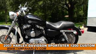 6. Used 2007 Harley-Davidson XL1200C Sportster 1200 Custom - Harley Sound