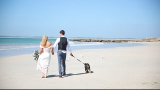 Susie + Kyle - Even the tide wanted to take part in this perfect day.