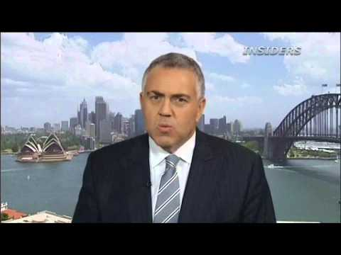 Federal Government - Joe Hockey Federal Government is in the market place borrowing money in competition with the banks Getting to surplus fast.