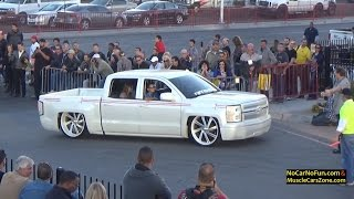 FULL INFO at http://www.nocarnofun.com/Car Parade arriving at SEMA Show Ignited 2015 part 1