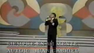 video y letra de Siempre en mi mente por Juan Gabriel