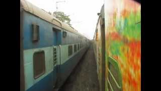 Parallel Race: Duronto Overtaking Indian Express Train of INDIAN RAILWAYS
