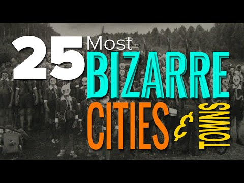 LL - If you think that your own town or neighborhood is weird and strange this list will probably make you reconsider and reevaluate that belief. The 25 bizarre cities and towns that follow will...