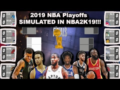 2019 NBA Playoffs - Simulated in NBA2K19 - LIVE GAMES!