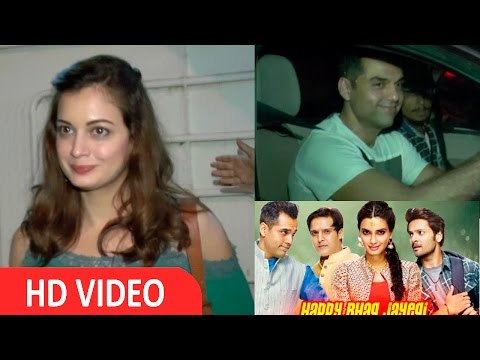 Dia Mirza & Abhay Deol Watch Movie Happy Bhaag Jayegi