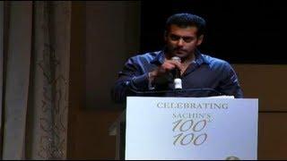 Video Salman's Brilliant Speech For Sachin Tendulkar MP3, 3GP, MP4, WEBM, AVI, FLV Oktober 2017