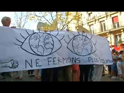 Μαζικές διαδηλώσεις για το κλίμα στη Γαλλία