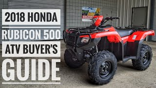 7. 2018 Honda FourTrax Rubicon 500 ATV Model Lineup Explained / Differences / Model ID Breakdown