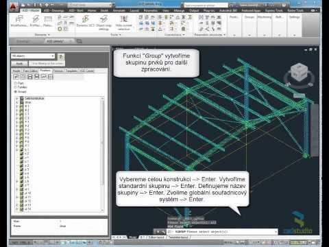 AutoCAD Structural Detailing - základy 7/7 (ASD - součást Building Design Suite)