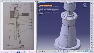 Catia V5 Tutorial|P6-Create Screw Jack|CSK Screw|Mechanical Engineering Design
